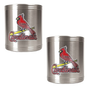 Saint Louis Cardinals 2pc Stainless Steel Can Holder Set- Primary Logo