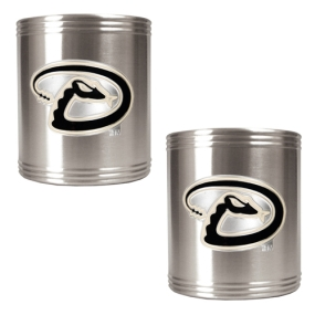 Arizona Diamondbacks 2pc Stainless Steel Can Holder Set- Primary Logo