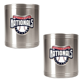 Washington Nationals 2pc Stainless Steel Can Holder Set- Primary Logo