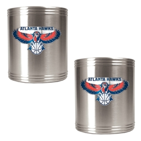 Atlanta Hawks 2pc Stainless Steel Can Holder Set
