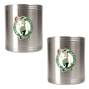 Boston Celtics 2pc Stainless Steel Can Holder Set