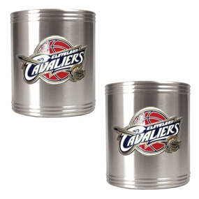 Cleveland Cavaliers 2pc Stainless Steel Can Holder Set