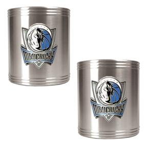 Dallas Mavericks 2pc Stainless Steel Can Holder Set