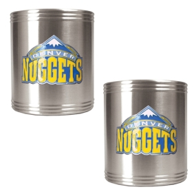 Denver Nuggets 2pc Stainless Steel Can Holder Set