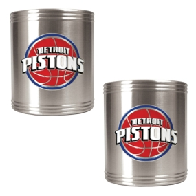 Detroit Pistons 2pc Stainless Steel Can Holder Set