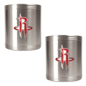 Houston Rockets 2pc Stainless Steel Can Holder Set