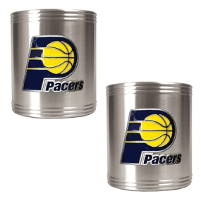 Indiana Pacers 2pc Stainless Steel Can Holder Set