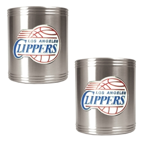 Los Angeles Clippers 2pc Stainless Steel Can Holder Set
