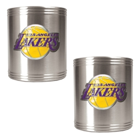 Los Angeles Lakers 2pc Stainless Steel Can Holder Set