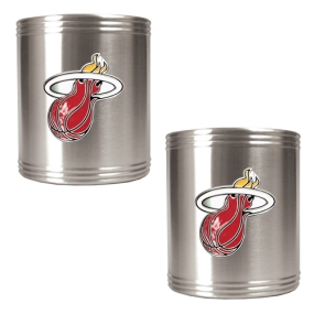 Miami Heat 2pc Stainless Steel Can Holder Set