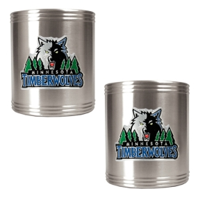 Minnesota Timberwolves 2pc Stainless Steel Can Holder Set