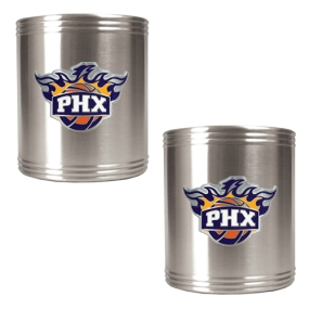 Phoenix Suns 2pc Stainless Steel Can Holder Set