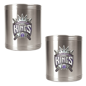 Sacramento Kings 2pc Stainless Steel Can Holder Set
