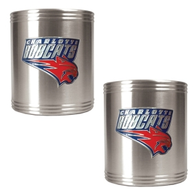 Charlotte Bobcats 2pc Stainless Steel Can Holder Set