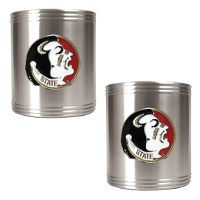 Florida State Seminoles 2pc Stainless Steel Can Holder Set