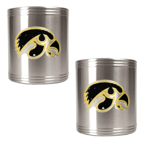 Iowa Hawkeyes 2pc Stainless Steel Can Holder Set