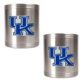 Kentucky Wildcats 2pc Stainless Steel Can Holder Set