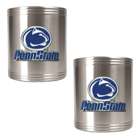 Penn State Nittany Lions 2pc Stainless Steel Can Holder Set