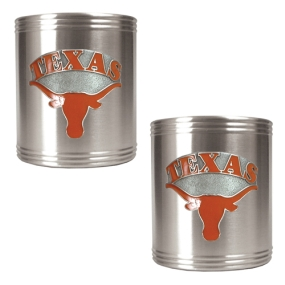 Texas Longhorns 2pc Stainless Steel Can Holder Set