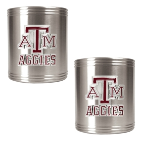 Texas A&M Aggies 2pc Stainless Steel Can Holder Set