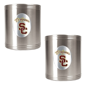 USC Trojans 2pc Stainless Steel Can Holder Set