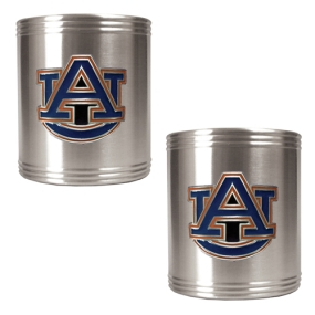 Auburn Tigers 2pc Stainless Steel Can Holder Set