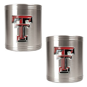 Texas Tech Red Raiders 2pc Stainless Steel Can Holder Set