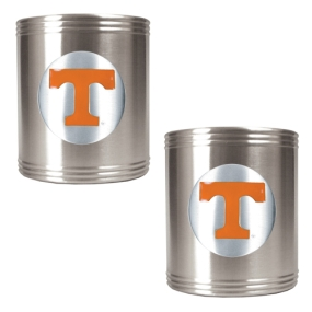 Tennessee Volunteers 2pc Stainless Steel Can Holder Set