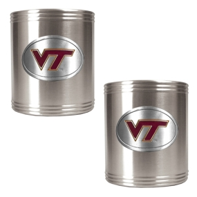 Virginia Tech Hokies 2pc Stainless Steel Can Holder Set