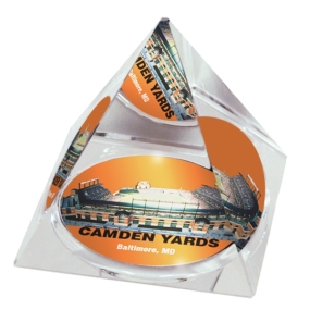 Baltimore Orioles Crystal Pyramid