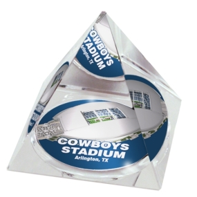 Dallas Cowboys Crystal Pyramid