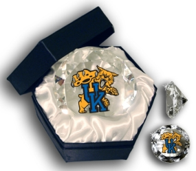 KENTUCKY U WILDCATS LOGO DIAMOND GLASS