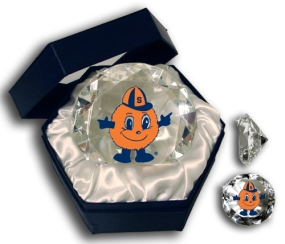 SYRACUSE ORANGE MASCOT DIAMOND GLASS