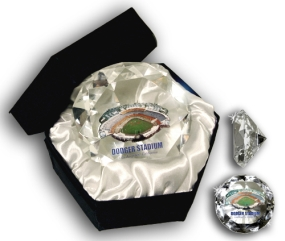 DODGER STADIUM DIAMOND GLASS