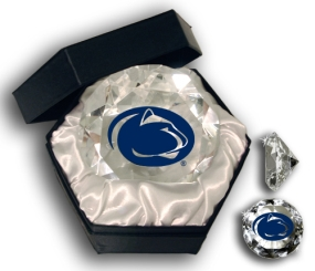 PENN STATE U, BEAVER STADIUM LOGO DIAMOND GLASS