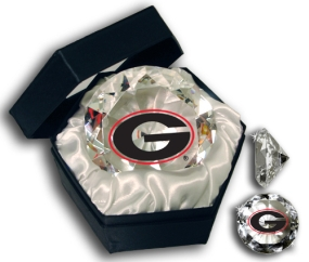 GEORGIA U LOGO DIAMOND GLASS