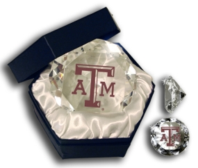 TEXAS A&M AGGIES LOGO DIAMOND GLASS