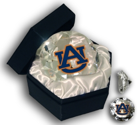 AUBURN U TIGERS MASCOT DIAMOND GLASS