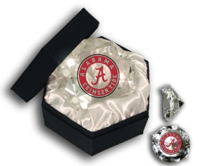 ALABAMA U CRIMSON TIDE LOGO DIAMOND GLASS