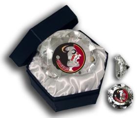 FLORIDA STATE SEMINOLES LOGO DIAMOND GLASS