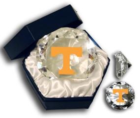 TENNESSEE U VOLUNTEERS LOGO DIAMOND GLASS