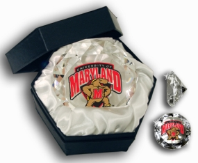 MARYLAND U MASCOT DIAMOND GLASS
