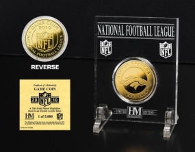 Denver Broncos 24KT Gold Game Coin