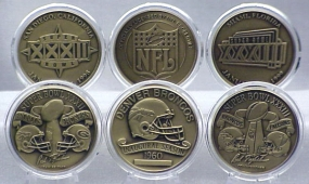 DENVER BRONCOS BRONZE SUPER BOWL COLLECTION