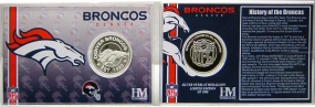 Denver Broncos Team History Silver Coin Card