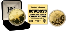 Dallas Cowboys '09 NFC East Division Champions 24KT Gold Coin