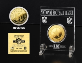 Dallas Cowboys 24KT Gold Game Coin