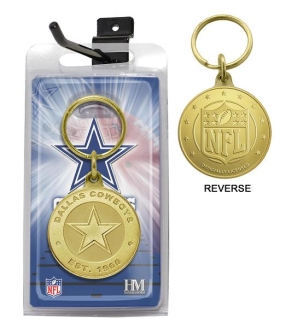 Dallas Cowboys Bronze Bullion Keychain