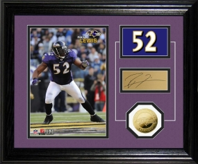 Ray Lewis Player Pride Desk Top Photo Mint