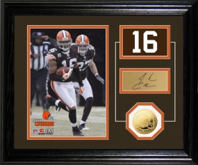 Josh Cribbs Player Pride Desk Top Photo Mint